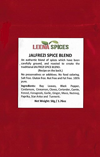 LEENA SPICES – Jalfrezi Curry Masala Spice Powder – Gluten Free Pure Blend – No Salt Or Coloring - With An Easy To Cook Delicious Lamb Recipe - Enjoy Home Made Quality Food. by Leena Spices