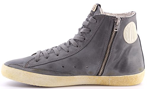 Zapatos Hombres Sneakers Alta GOLDEN GOOSE Francy Gray Leather Made In Italy New