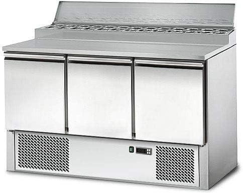 Saladette/Zubereitungstisch PREMIUM - 1,37 x 0,7m - mit 3 Türen