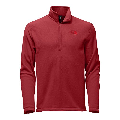 The North Face Red Fleece (The North Face Men's TKA 100 Glacier Quarter Zip - Rage Red/Rage Red - XL)