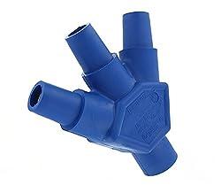 Leviton 16a23-ub 16-series Taper Nose, Male-female-female-female, Cam-type Multi-way Connector, Blue