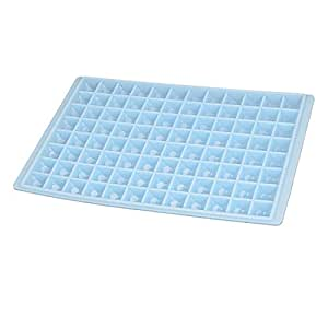 Square 96 Slots Chocolate Cake Ice Maker Tray Molds Cube Whiskey Blue