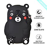 LIKESEA 3D Silicone Case for Samsung Galaxy Note 4, Lovely Cartoon Soft TPU Gel Protective Cover with Shock-Absorption and Anti-Scratch, Kumamon
