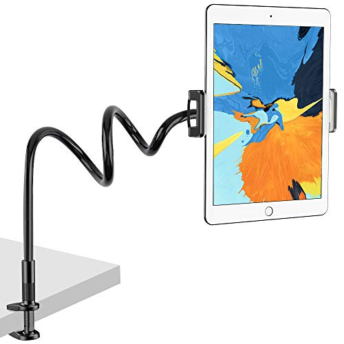 Nulaxy Tablet Holder, Flexible Gooseneck Tablet Stand Mount for iPad, iPhone, Samsung Galaxy Tabs, Amazon Kindle Fire HD and More 4.7-10.5