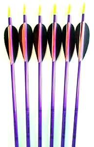 Feather Fletched Easton XX75 Jazz Aluminum Arrows 6-pack 30 1916
