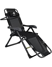 khawaled Foldable Chair for Camping and Trips, black