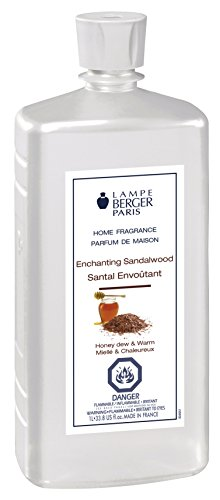 Enchanting Sandalwood | Lampe Berger Fragrance Refill for Home Fragrance Oil Diffuser | Purifying and perfuming Your Home | 33.8 Fluid Ounces - 1 Liter | Made in ()