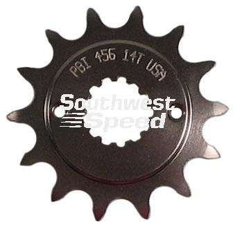 NEW SOUTHWEST SPEED 16 TOOTH FRONT COUNTERSHAFT MOTORCYCLE SPROCKET, 520 CONVERSION, 13 SPLINE, KAWASAKI EL250 B, E, NINJA 250R, EX250, EX500A, NINJA 500, EX500R, ZR550B ZEPHYR, ZX550 GPZ, ZX750ZX7R, ZX750N ZX7RR, SUZUKI GSX-R600, DL 650 V-STORM, GSX 650F, SV 650 STD & A, 650S SPORTBIKE, GSX-R750, RF 900R, DL 100 V-STORM, GSX-R1000, SV 1000 STREET, TL 1000R, TL 1000S, GSX 1100F-KATANA, GSXR 1100K-N, GSXR 1100 WPR, GSX1300R HAYABUSA, YAMAHA FZR 600R, TRIUMPH 675 DAYTONA & SPEED TRIPLE & R BIKES