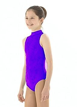 Filles justaucorps sans manches en velours écrasé – gymnastique Danse –  toutes les couleurs 69c238c3a91