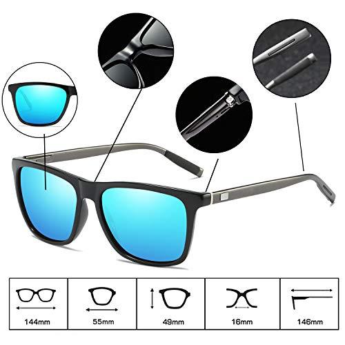 été femmes Vintage pour Eyewear polarisées lunettes Lunettes extérieur soleil soleil plein de plage de de hommes Sports Blue chauffeur air cRWW1fB