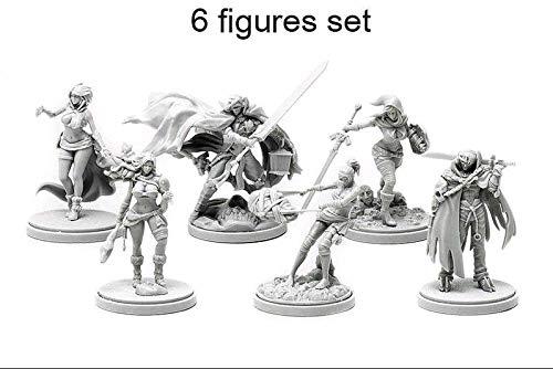 FidgetGear 30MM Resin Kingdom Death Promo Collection 6 Figures Set Unpaint Unbuild KD002 from FidgetGear