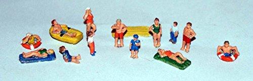 Langley Models Beach Scene N Scale UNPAINTED Metal Model People Figures (Finished Model Scale)