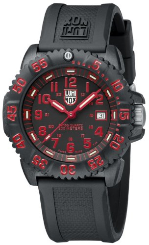 Luminox Sea Navy Seal Colormark 3050 Men's Red Arabic Numerals Watch A.3065