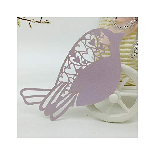 50pcs Bird Shape Laser Cut Table Name Place Cards Favor Table Name Message Setting Card Baby Shower Wedding Birthday Party Light Pule