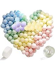 "200st macaron ballon slinger boog kits partij, premium kwaliteit ballonnen, 5 inch geassorteerde kleuren latex ballonnen, blauw groen rood roze licht paars oranje geel grijs ballons 5"""