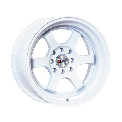 15x8 F1R F05 White Rim Offset(0) Lug(4x100/4x114.3) Bore(67.1) 1 Wheel -- F05158W0 (4 Lug Chrome Rims)