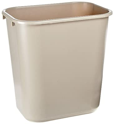 Rubbermaid Commercial Plastic Deskside Wastebasket