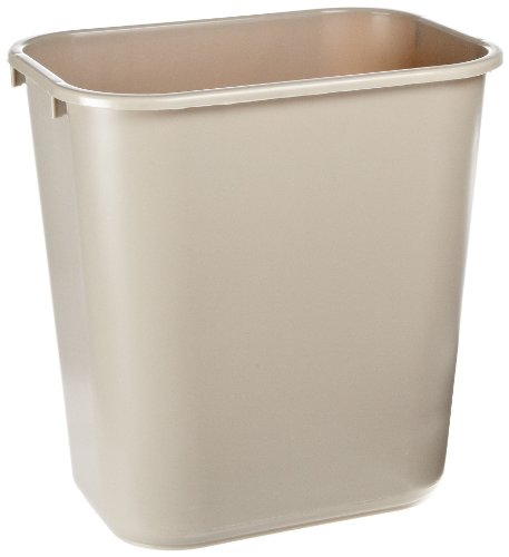 - Rubbermaid Commercial Products FG295600BEIG Plastic Resin Deskside Wastebasket, 7 Gallon/28 Quart, Beige (Pack of 12)