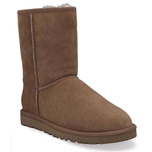 ugg-australia-womens-classic-short-boots-footwear-chestnut-size-8