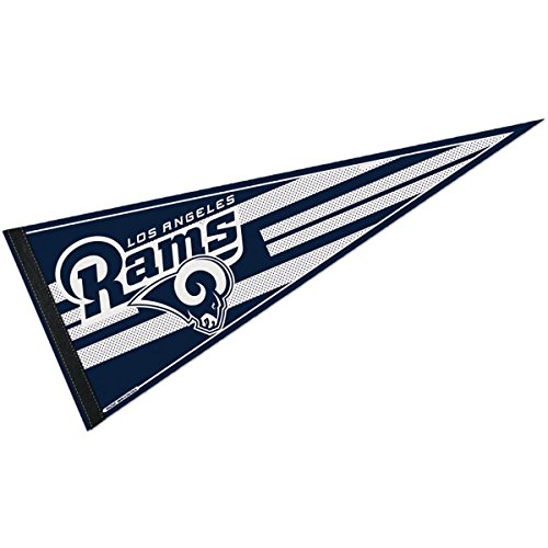 WinCraft LA Rams White Logo Pennant and 12
