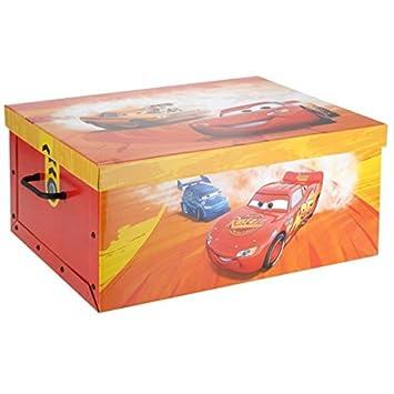 Stapelboxen Kinderzimmer | Disney Cars Aufbewahrungsbox 51x37x24 5 Spielkiste Spielzeugkiste