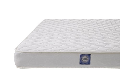 Signature Sleep Essential 6 Inch Coil Mattress made with CertiPUR-US Certified Foam, 6 Inch Twin Mattress, White. Available in Multiple Sizes