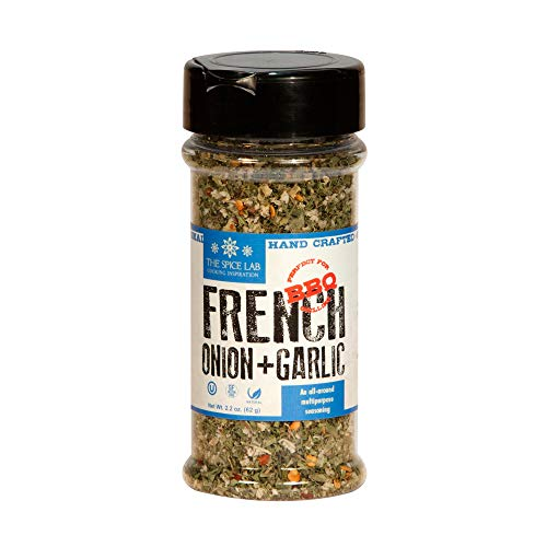 The Spice Lab No. 7603 - French Onion Garlic Blend - Kosher Gluten Free Natural - Shaker Jar - 3 Pack