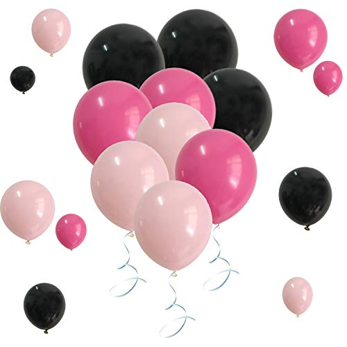 Party Favors Balloons Black Pastel Pink Assorted Color For Bridal Shower Birthday Wedding Decorations