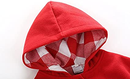 Boarnseorl Newborn Baby Boy Baby Girl Unisex Clothes Cotton Hooded Red Cloak