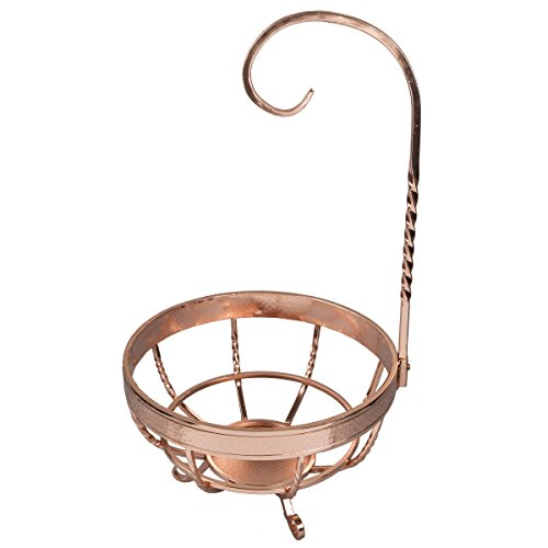 Banana Metal Tree (Creative Home 50268 Metal Banana Tree Fruit Basket Finish, Copper)