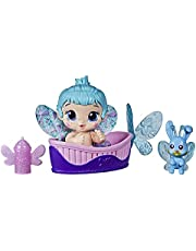Boneca Baby Alive Glo Pixies Minis, Boneca de 9,5 cm que Brilha no Escuro - Aqua Flutter - F2599 - Hasbro