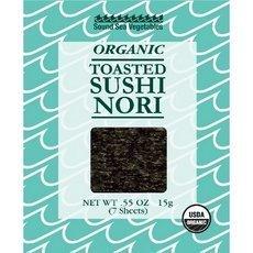 - Sound Sea Vegetables Organic Toasted Sushi Nori (12x0.55oz ) by Sea Sound