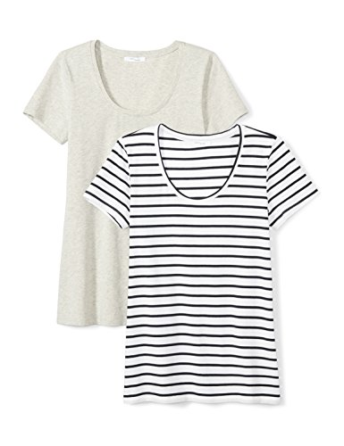 Daily Ritual Women's Stretch Supima Short-Sleeve Scoop Neck T-Shirt