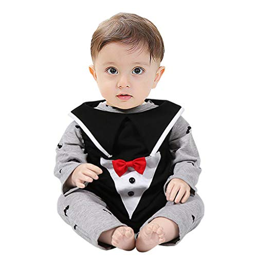 Broncos Cheerleader Halloween Costumes - 3Pcs Newborn Infant Baby Boys Gentleman