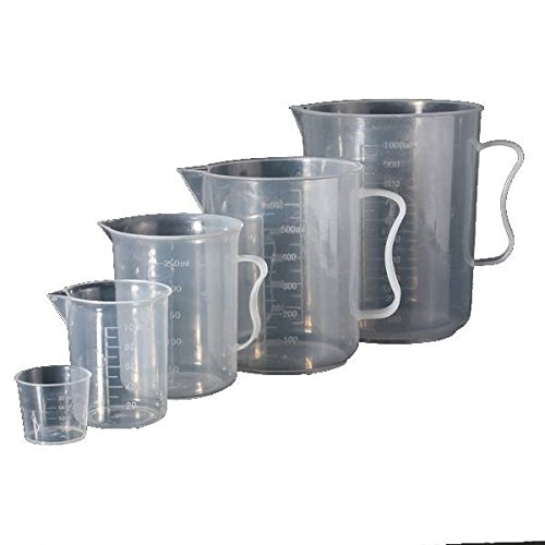 dipshop 1000ml Plastic Graduated Measuring Cup Jug With Spout Lab Volume Measuring Tool