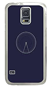 Samsung Galaxy S5 patterns abstract parallax circle53 PC Custom Samsung Galaxy S5 Case Cover Transparent