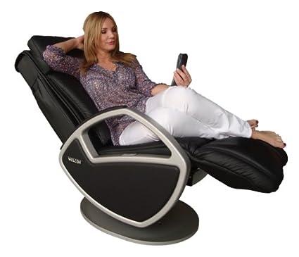 Welcon Space, Keyton - Silla de masaje con cuero negro ...