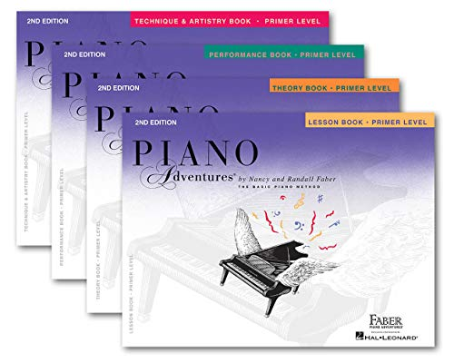 Faber Piano Adventures Primer Level Learning Library Set Lesson,Theory, Performance, Technique & Artistry Books and Juliet Music EBook