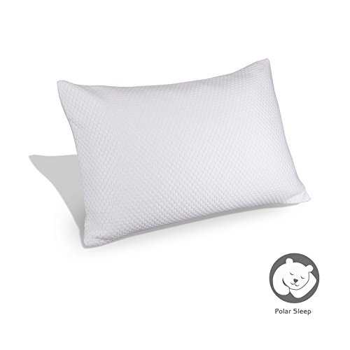 Shredded Memory Foam Bed Pillow by Polar Sleep , Gel-infused Technology, Standard
