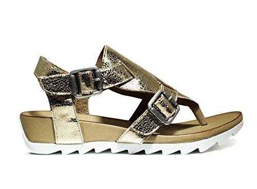 BUENO SHOES E609 A401 ZAPATOS sandalias de cuña, CUÑA reducido, la nueva colección primavera-verano 2016 de cuero del oro