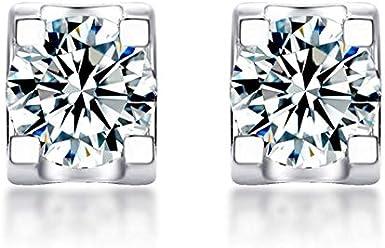 Pendientes de diamante Moissan de 1 quilate de plata de ley con incrustaciones de diamantes Moissan pendientes de moda para mujer