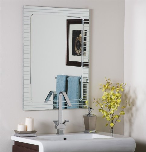 Decor Wonderland Frameless Deco Wall Mirror - 23.5W x 31.5H in. ()