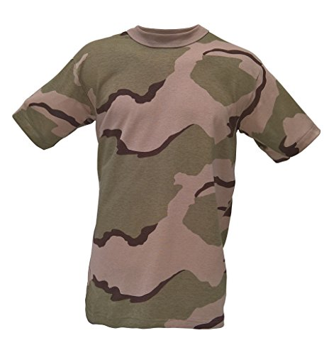 - Army Navy Shop Adults Camouflage T-Shirt Tri-Color Desert Camo XL