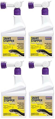 Bonide # 8752 32 oz Ready To Spray Hose End Snake Stopper Repellent Spray- Quantity 4 - Stopper Repellent Spray