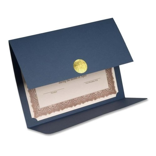 Wholesale CASE of 15 - First Base Medallion Linen Certificate Holder-Certificate Holder,Double-fold,12-1/2