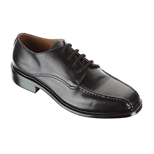 Handmade Damen Frost Taggart Mens Lace-up Leather Shoes with Double Stitched Design and High Quality Leather, Color Black, Size US11 by Damen Frost