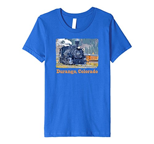 Price comparison product image Kids Durango, Colorado Steam Train t-shirt - colorful 6 Royal Blue