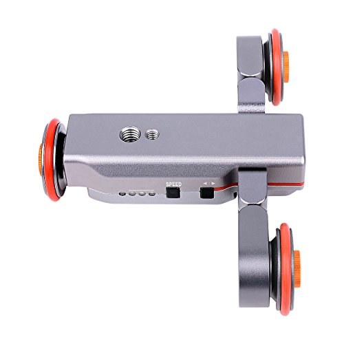 3Cup Track Slider Car Rack Dolly ,Autodolly Electric Motorized Video Slider Car Dolly Rolling Slider ,Chargable Mini Slider Skater with Wireless Remote 3 Speed for Canon Nikon Sony Camera Camcorder by 3Cup