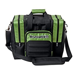 Brunswick Flash Single Tote, Black/Lime