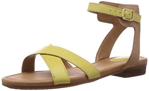 Clarks Viveca Zeal - Sandalias de vestir de cuero para mujer Yellow Leather